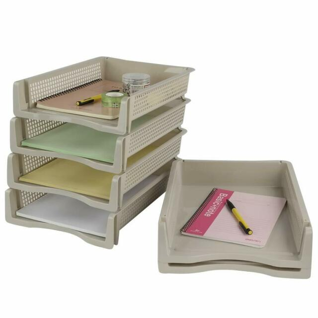Tier Tray Desk Organizer Office Paper