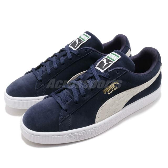 a6d16e27df3 Puma Suede Classic Navy White Mens Womens Classic Casual Shoes Sneakers  35656851