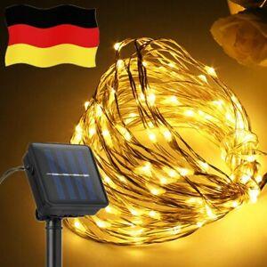 200-LED-Lichterkette-Solar-Kupferdraht-Lichterkette-Aussenbeleuchtung-Weihnachten