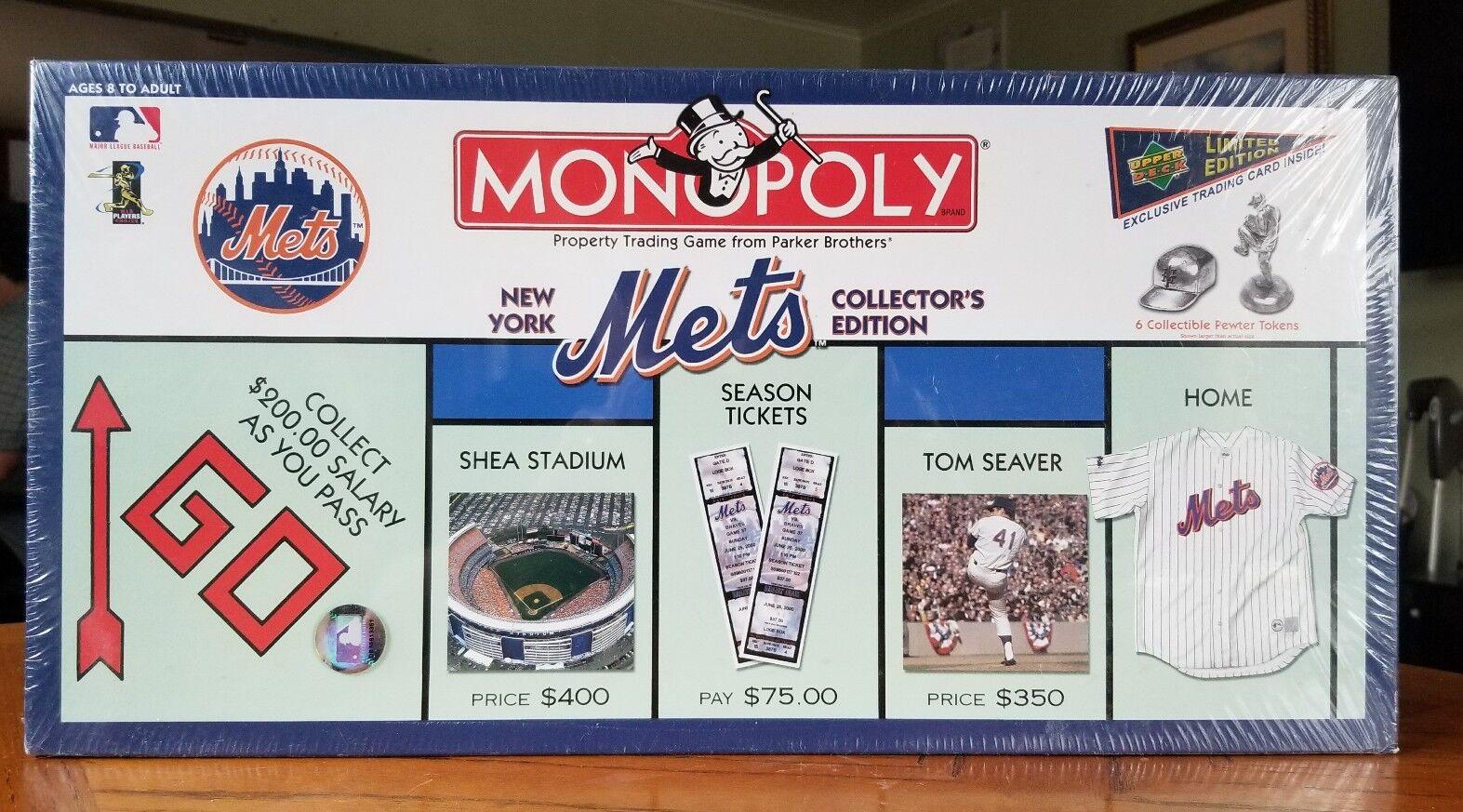 nuovo York Mets Collector's edizione Monopoly tavola gioco with Limited  edizione autod  prezzi bassi
