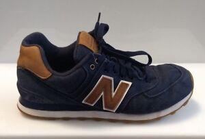 Details about NEW BALANCE 574 Navy Blue Denim Sneaker Running Walking Trainer Shoes Men 8.5 D