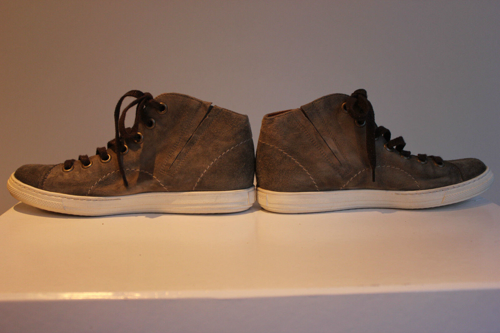 PAUL GREEN Traum Grau Wildleder High-Top Sneakers, Gr. 36,5/37, 36,5/37, Gr. Top Zustand bd2e49