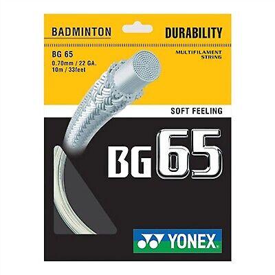 Yonex BG-65 Badminton String 0.70mm 10m 7 Colors