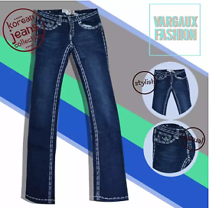 Vargaux-039-s-Seung-Korean-Straight-Style-Jeans-for-Women-Size-31