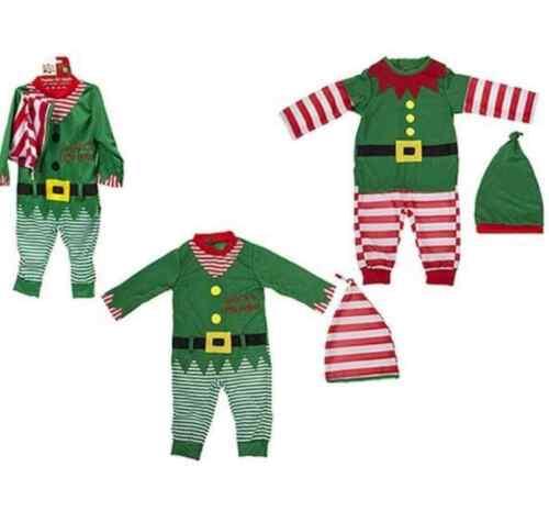 Baby Weihnachten Weihnachtsoutfit Babyanzug Elfen Kostüm Set 6-9//9-12//12-18 Mon