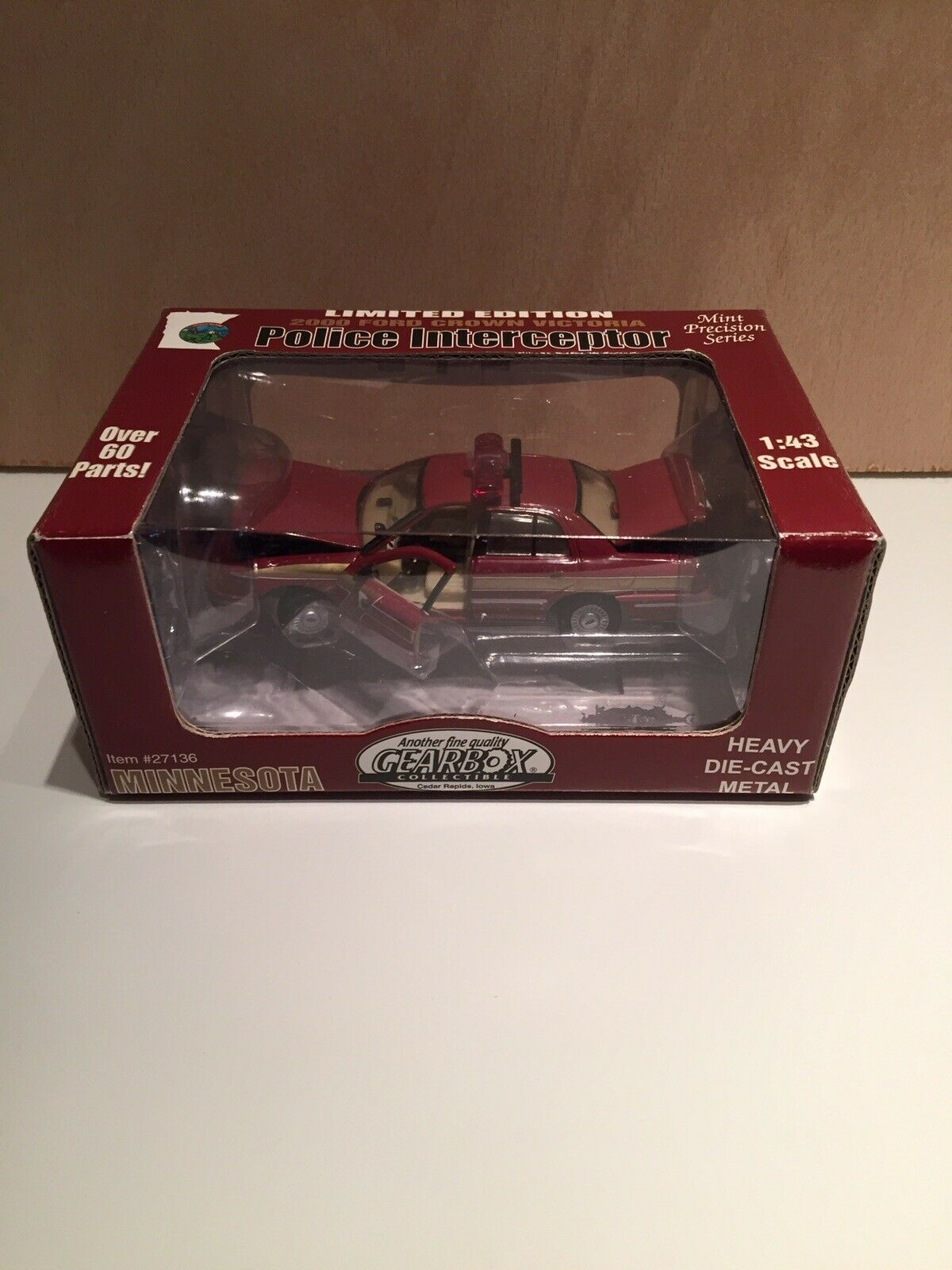 2000 Gearbox 1 43 Diecast POLICE POLICE POLICE INTERCEPTOR CAR - MINNESOTA -Limited To 2500 3a663d