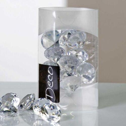 Tischdeko Streudeko Deko-Brillanten klar 29 mm in 100 ml Klarsichtbox Diamant
