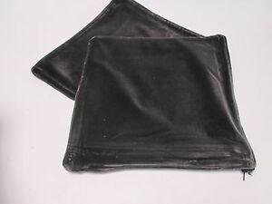 """Pair of Brown Velour Scatter Cushion Cover 17"""" Home Decor Living Room #8B285"""