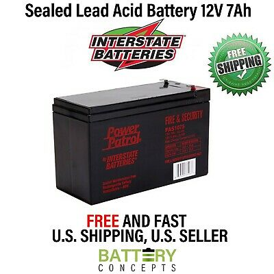 Acme Security System 626 Home Alarm SLA Replacement Battery 12V 7Ah with F1 Terminal