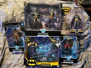 Lot 5 McFarlane DC Multiverse  Batman Joker BANE CLASSIC BATMAN MOTO TANK NEW!!