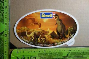 Alter-Aufkleber-Modellbau-Bausaetze-Spielwaren-REVELL-Dinosaurier