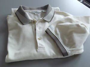 Short-Sleeve-Golf-POLO-SHIRT-LYLE-amp-SCOTT-Lg-Half-Buttonned-down-Off-white