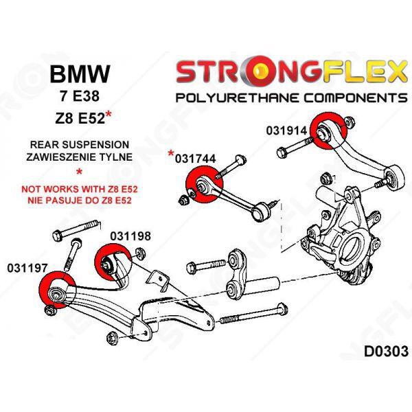 BMW E38 E65 E66  bras arrière ajustement silentbloc intérieure SPORT 33322348886