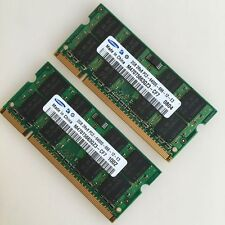 Samsung 4GB 2x 2GB PC2-6400 2Rx8 DDR2 800 MHZ laptop 200PIN memory SO-DIMM SDRAM