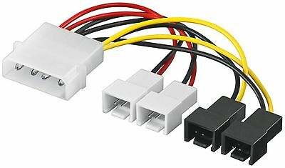 2x 12 Volt Elegant Und Anmutig Ausdauernd Lüfter Adapter Lüfterkabel 4 Pin Auf 4x Molex 3 Pin 2x 5 Volt Kabel & Steckverbinder