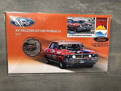New Mint Uncirculated Ford 1971 XY Falcon GT-HO 50 Cent Coin PNC Limited to 7500