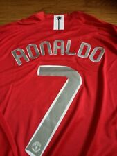 2008 #7 Ronaldo Manchester United Champions League Final Jersey L/S M