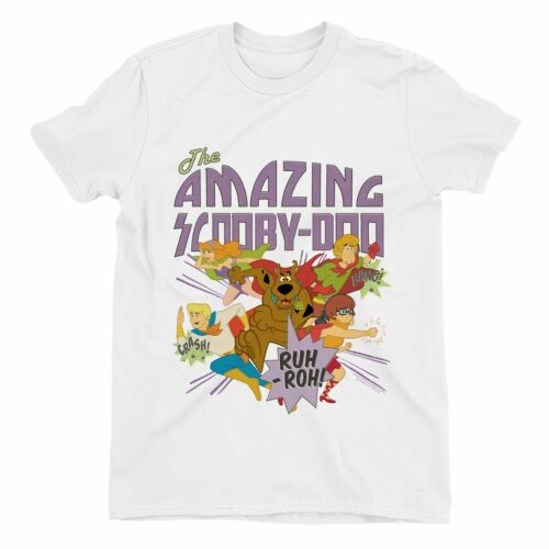 The Amazing Scooby Doo Children/'s Unisex White T-Shirt