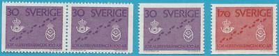 Schweden Aus 1962 ** Postfrisch Minr.485-486 Postzustellung Modische Muster