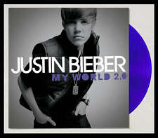 JUSTIN BIEBER My World 2.0 LP on PURPLE COLOR VINYL New STILL SEALED Baby