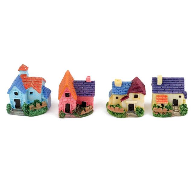 Dollhouse Miniature Bonsai Garden Resin Handicraft Landscape Diy Decor 4pcs F9P6