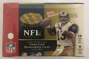 2001-Leaf-Certified-Materials-Football-Factory-Sealed-Hobby-Box