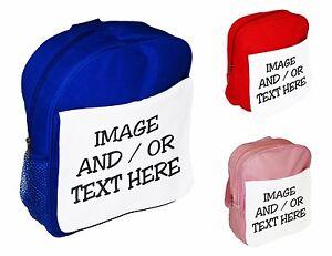 Personnalise-tout-texte-ou-image-enfants-sac-d-039-ecole-a-Dos-Sac