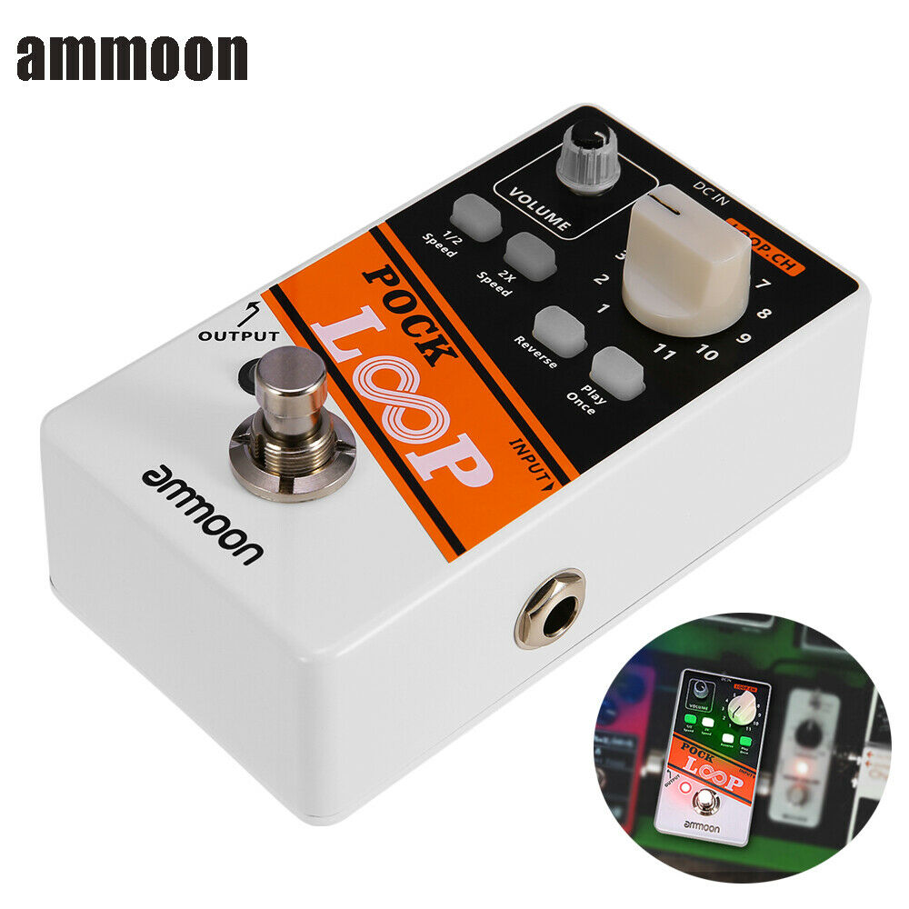 POCK LOOP Looper Record Guitar Effect Pedal 11 Independent Loops Bypass