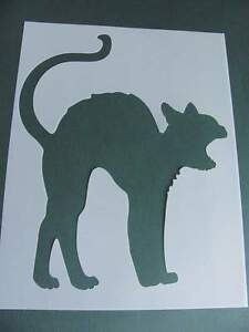 STENCIL-Large-Black-Cat-Halloween-Fall-Pattern-Template-Art-Craft-Paint-11