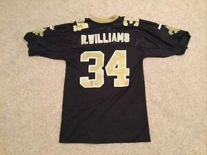 Vtg Reebok RICKY WILLIAMS #34 New Orleans Saints Black Jersey Mens Adult Medium