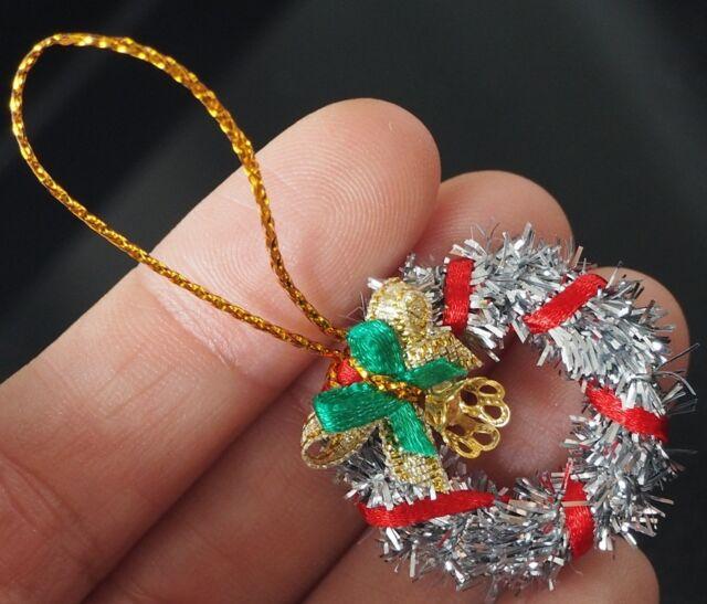 Dollhouse Miniature 1:12 Christmas Holiday Silver Tinsel Garland 2 Yards