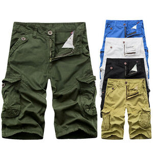 Military Mens* CAMO CARGO SHORTS Camouflage BERMUDA Work Army ...