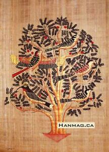 Egyptian-Papyrus-Painting-Poster-Tree-of-Life-16X24-Inches-Handmade-92