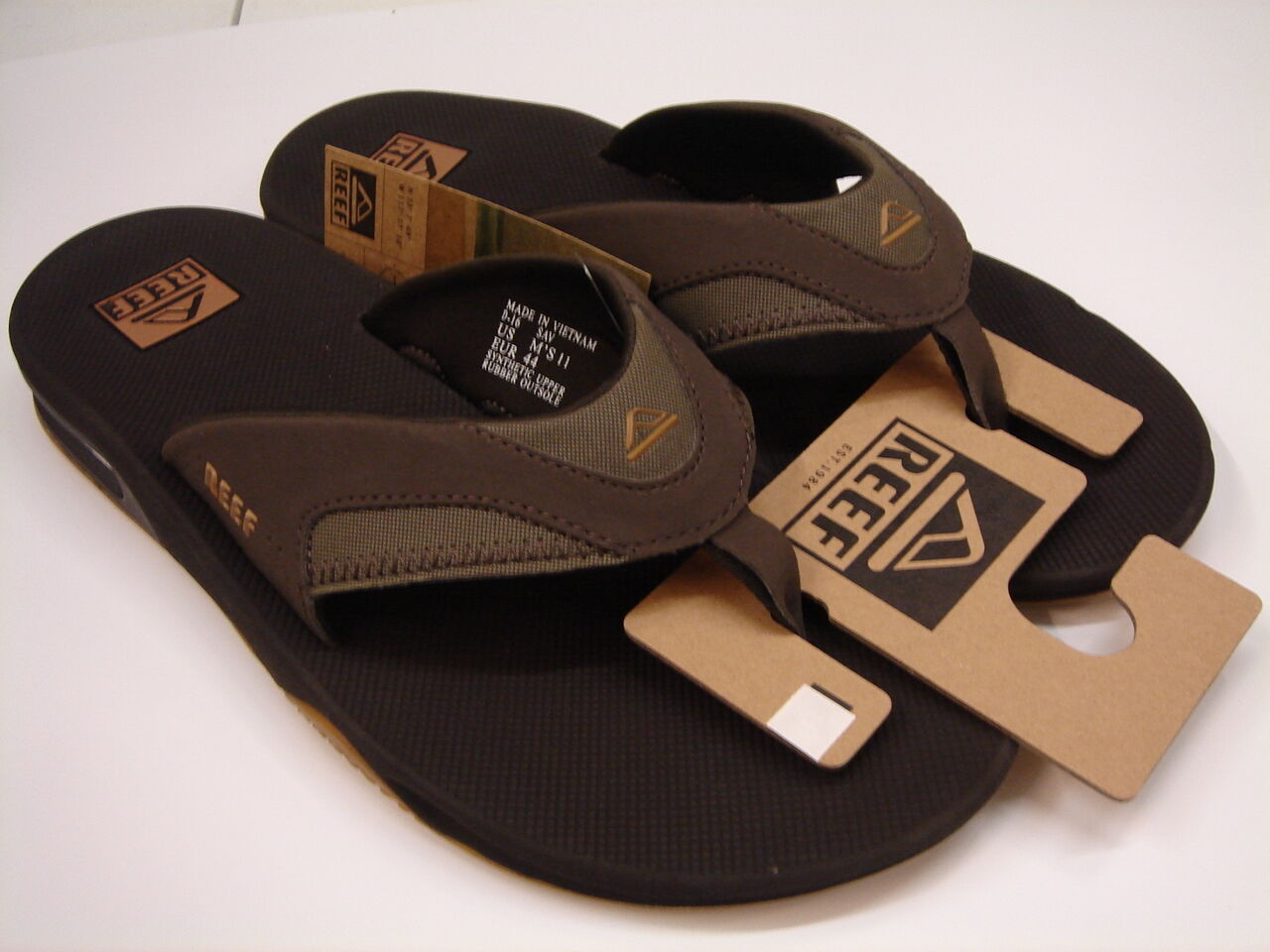 REEF MENS SANDALS FANNING BROWN GUM SIZE 14