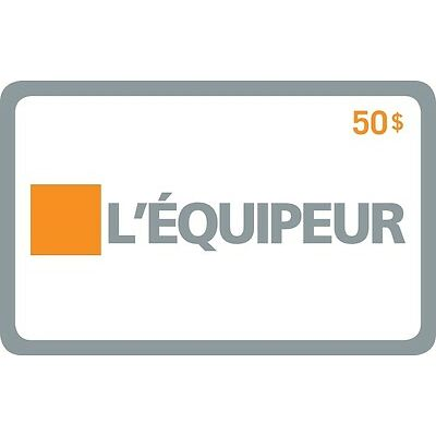 L'Équipeur Gift Card- $50 Mail Delivery