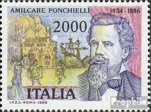 Italy 1961 complete issue unmounted mint never hinged 1986 Amilcare Ponchiel