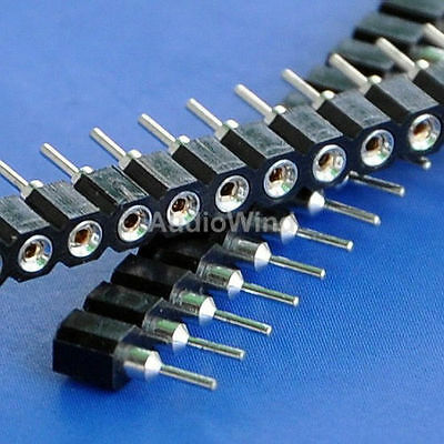 "100x SIP Single Row 40 Pin 0.1"" Socket Connector Strip"