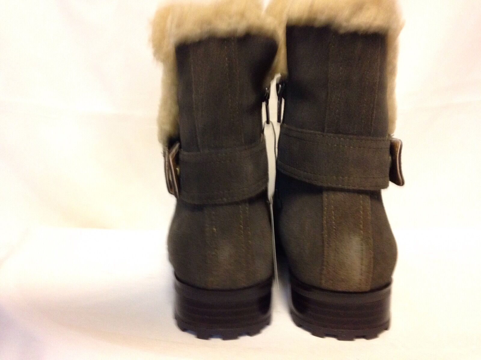 Giani Bernini Lotii Faux Shearling Lined Ankle Boot 6.5 Box M Army New with Box 6.5 910ce0