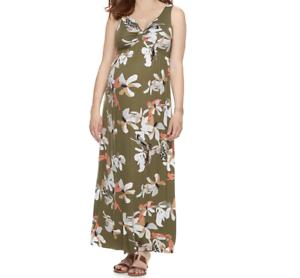 Floral Maternity Dress New Knot Front Maxi Small Full Length S 4 6 Kohls Aglow 400501770073 Ebay