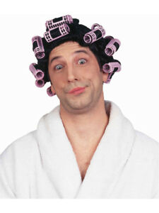 Womens or Mens Black Old Lady Funny Hair In Curlers Costume Wig  133fe4a87f