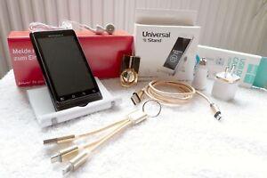 Motorola-Milestone-2-NEU-amp-UNBENUTZT-XXL-SET-GOLD-8GB-Android-HSDPA-WLAN