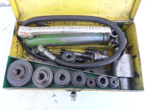 GREENLEE 767A Hydraulic Punch Set --Pump & Ram & Punches