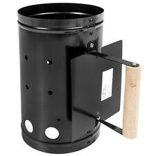 XXL Allumeur charbon de bois poignée allume-feu métal BBQ barbecue grill noir