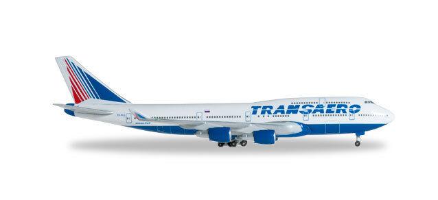 Boeing 747-400 Transaero Airlines 1 500 Herpa