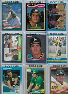Jose-Canseco-A-039-s-Lot-of-27-Different-w-16-Rookies-1986-Donruss-39-NMint