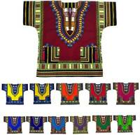 Men Women Dashiki African Tribal Top One Size Shirt Hippie Vintage Print Blouse