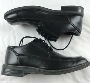 GEORGE-MENS-SIZE-7-5-BLACK-LACE-UP-DRESS-SHOE-Man-Made-Materials