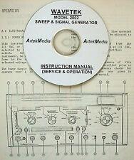 Wavetek 2002 Sweep Amp Signal Generator Instruction Manual Operating Amp Service