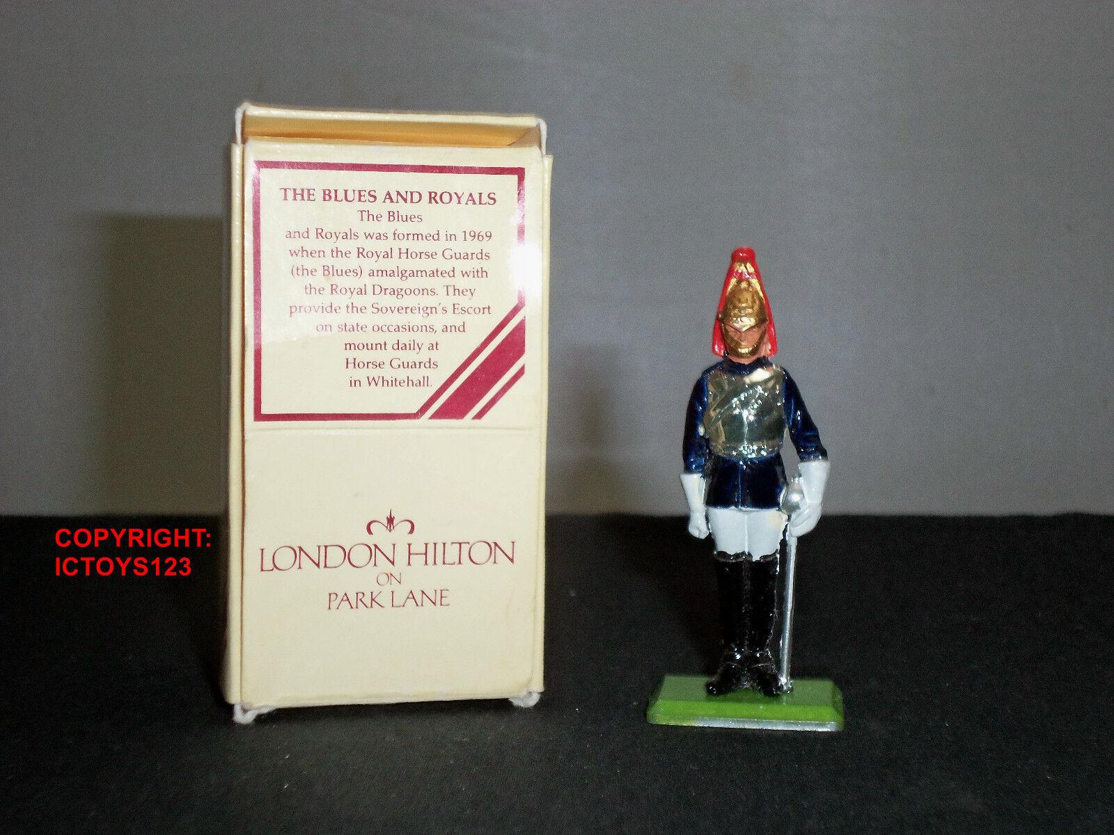 BRITAINS LONDON HILTON HOTEL PARK LANE blueE + ROYALS METAL TOY SOLDIER FIGURE