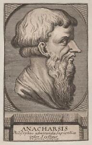 Portrait-du-Philosophe-Anarchasis-gravure-originale-XVIIIe